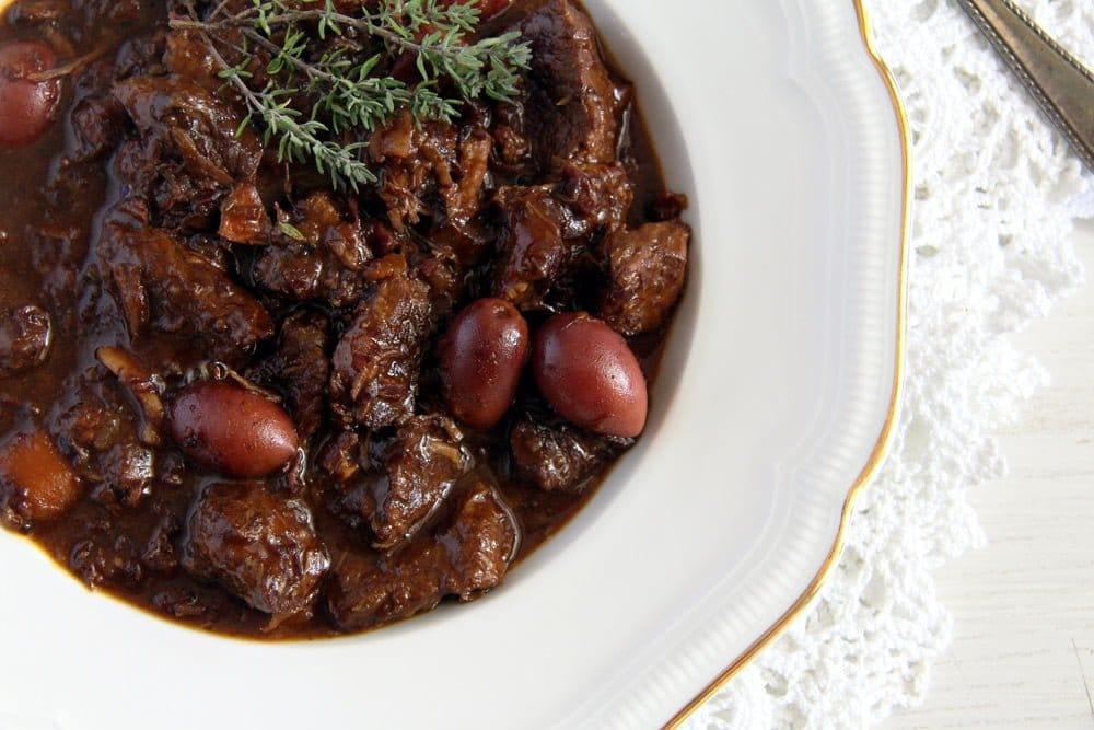 french stew olives beef French Beef Stew with Olives and Red Wine