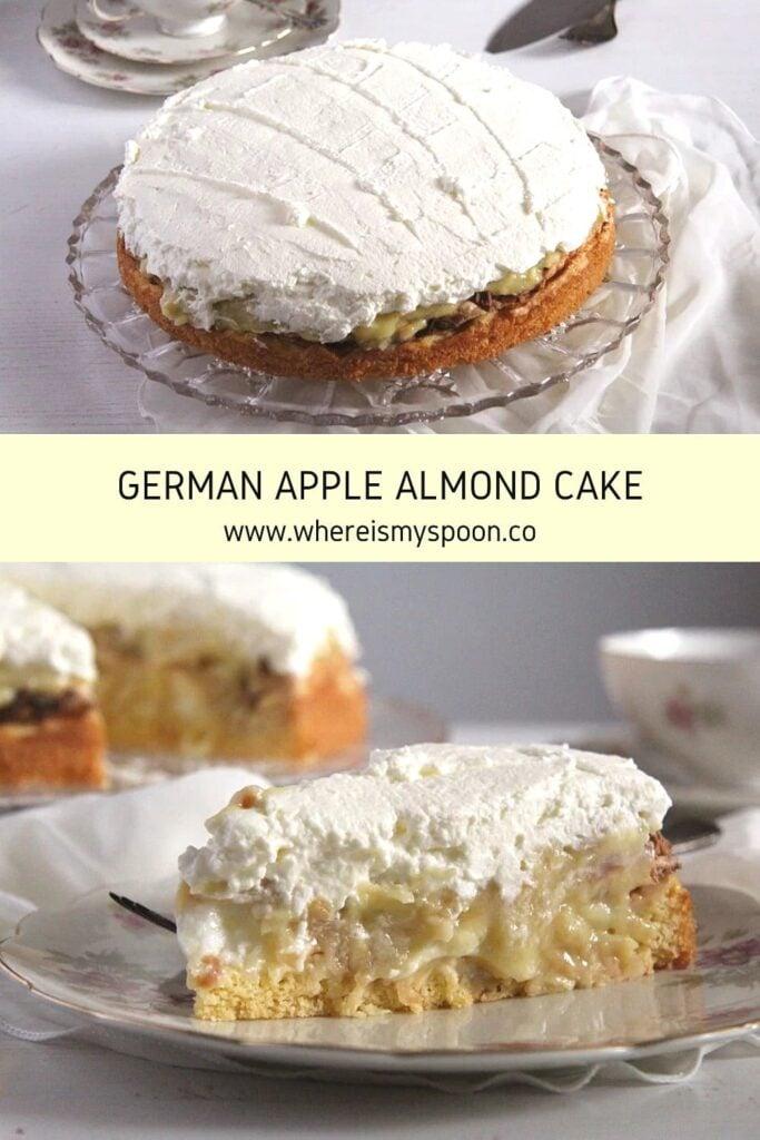 slice of german apple cake