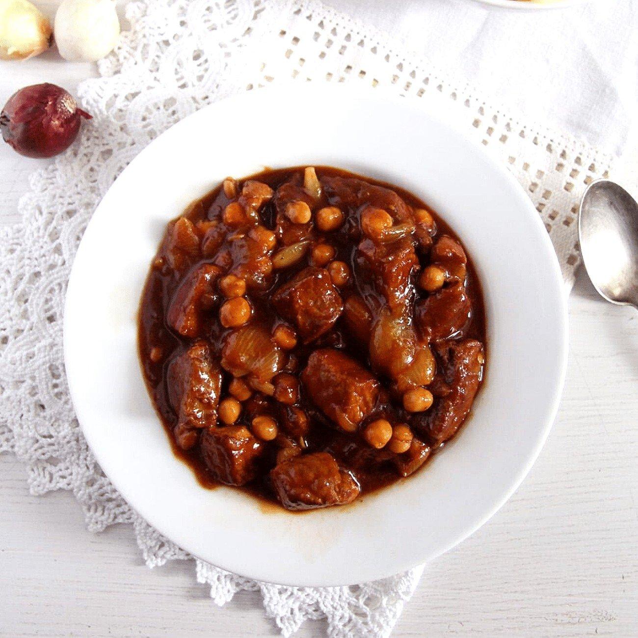 Spanish Pork Stew (with Chickpeas)