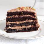 chocolate gateau slices 150x150 Moist Chocolate Gateau or Cake with Chocolate Cream Filling