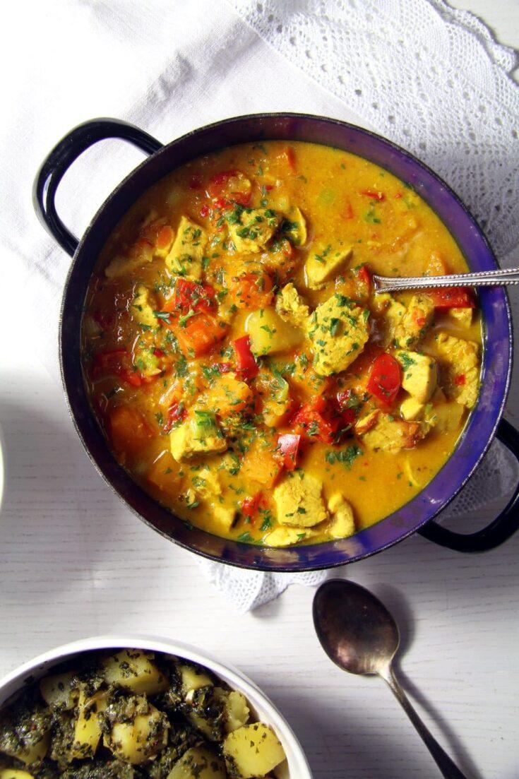 turkey curry with coconut milk, Creamy Turkey Curry with Coconut Milk