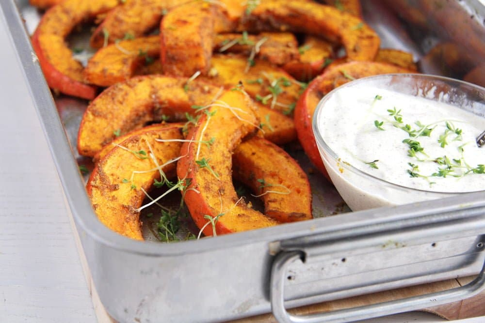roasted pumpkin Spicy Roasted Pumpkin Wedges   Simple and Delicious