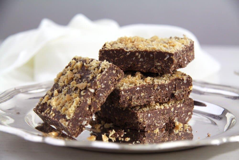 crispy chocolate Crunchy Hazelnut Dark Chocolate Biscotti