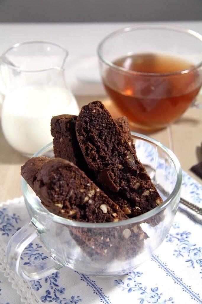 Hazelnut Chocolate Biscotti