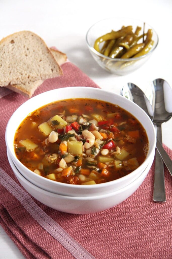bean soup 683x1024 White Bean and Vegetable Soup with Bone Broth
