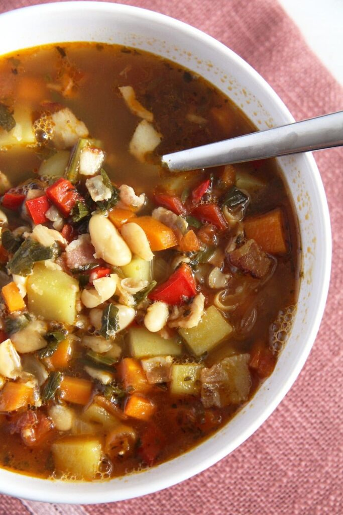 bean soup romanian 683x1024 White Bean and Vegetable Soup with Bone Broth