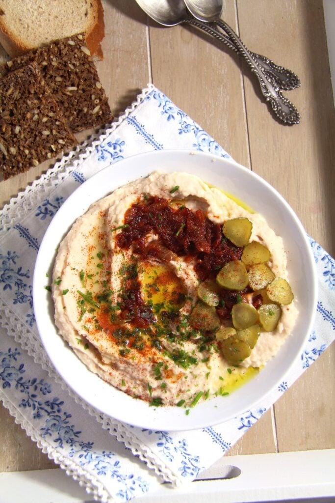beans dip romanian 683x1024 Romanian White Bean Dip with Caramelized Onions – Fasole batuta