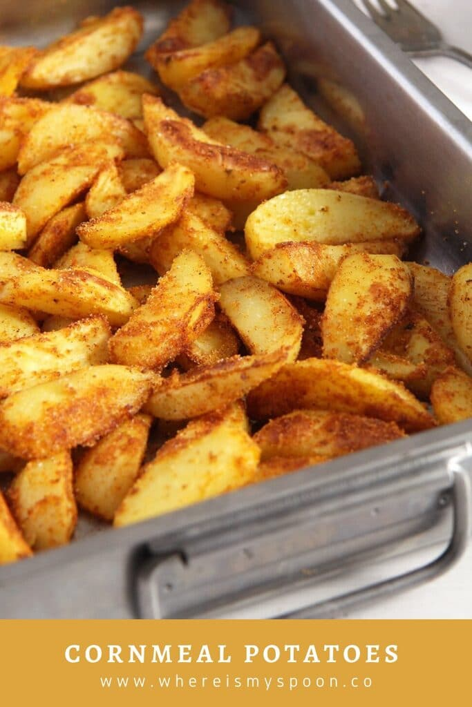 close up of crunchy baked potato wedges