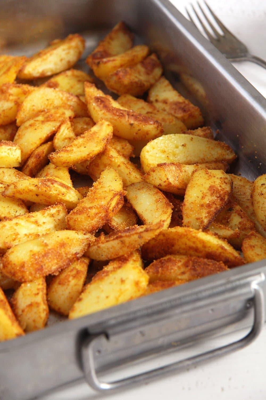 cornmeal potatoes salt Crispy Baked Cornmeal Potatoes with Paprika
