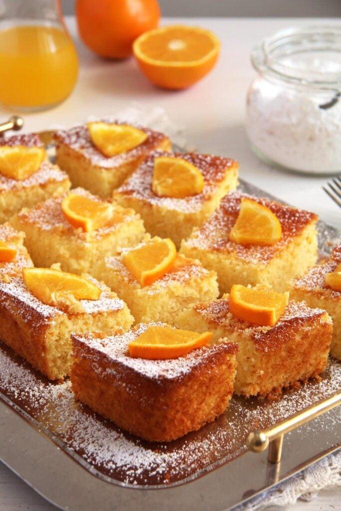 Polenta Orange Cake – Malai dulce