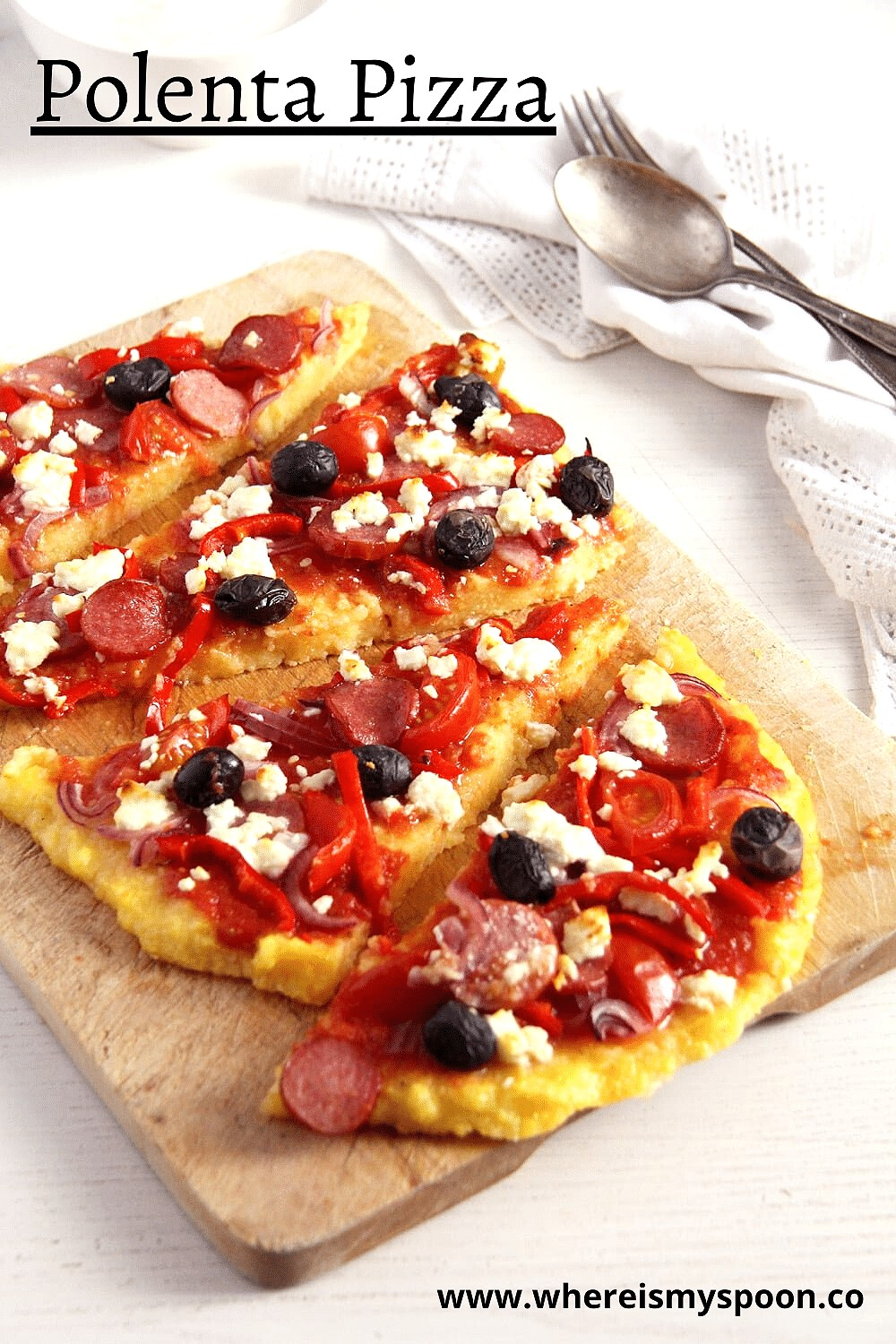polenta pizza, Polenta Pizza (with Various Toppings)