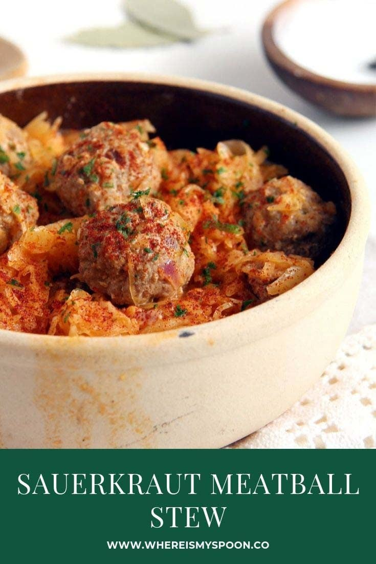 , Meatball Stew with Sauerkraut