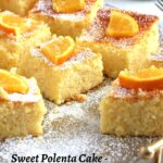 yellow cake with orange slices on top