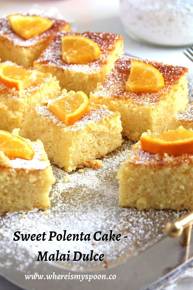 orange polenta cake, Orange Polenta Cake – Malai dulce