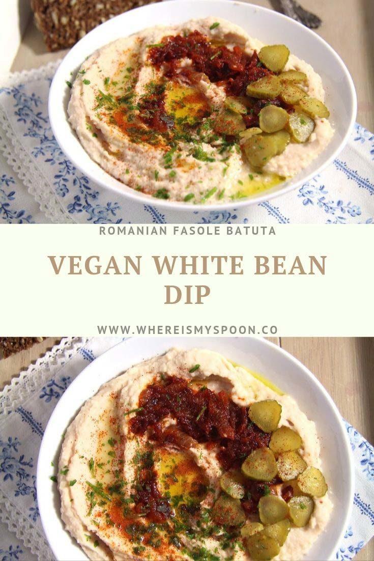 , Romanian White Bean Dip – Fasole batuta