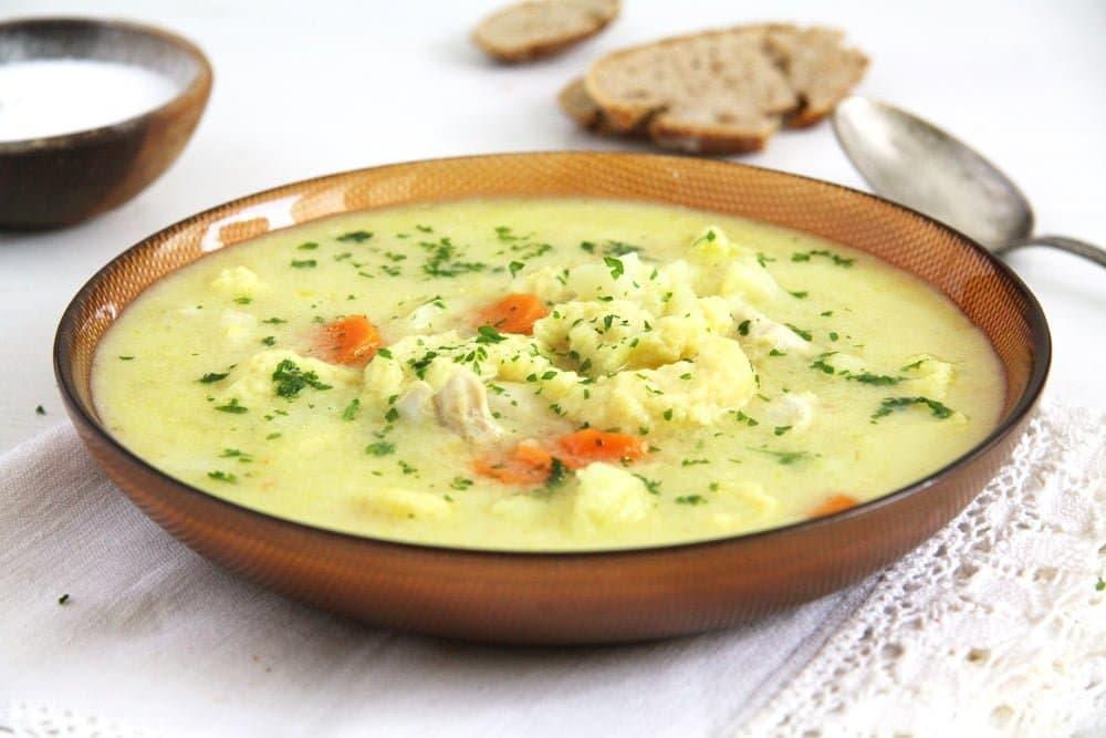курица цветная капуста суп