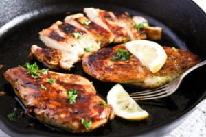skillet chicken breast 4 300x200 Basic Skillet Chicken Breast