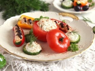 romanian appetizers with cream cheese stuffed vegetables