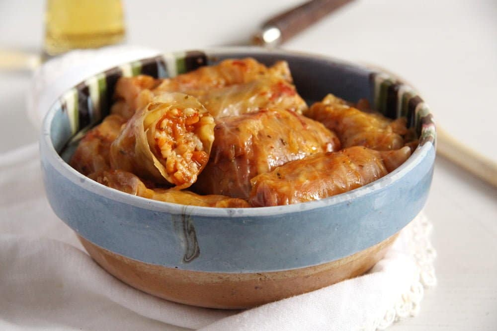 cabbage rolls vegan Vegan Cabbage Rolls with Sauerkraut
