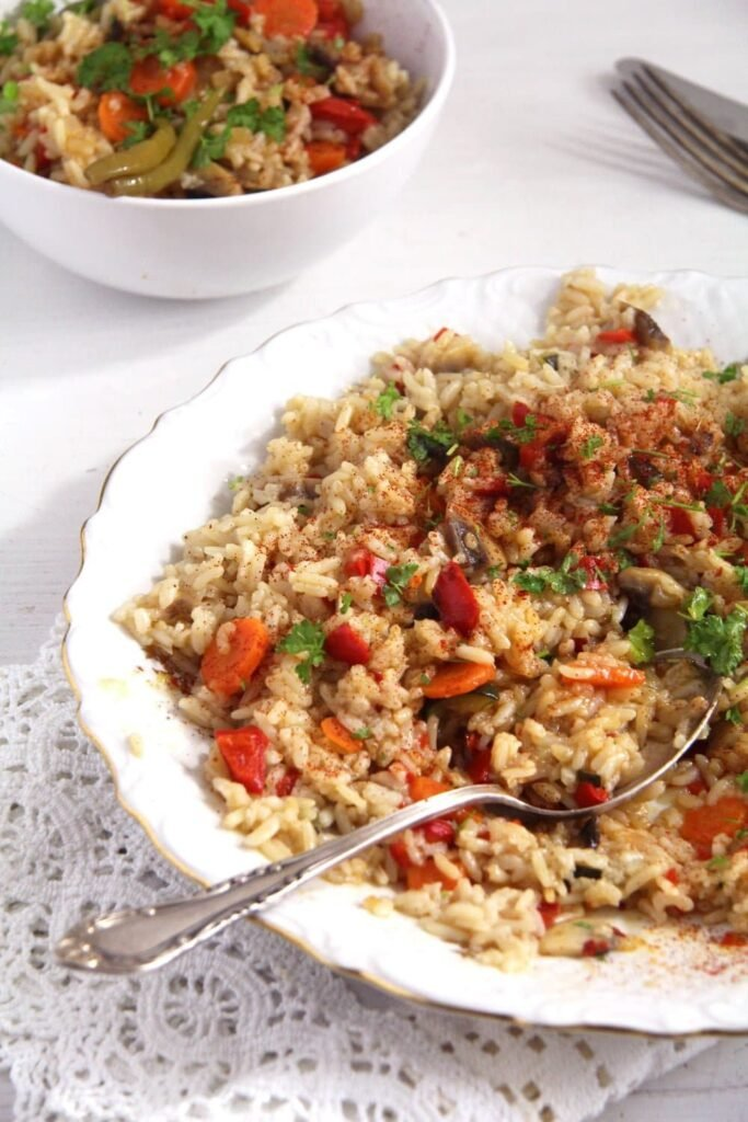 rice vegetable 683x1024 Romanian Vegan Vegetable Rice or Pilaf