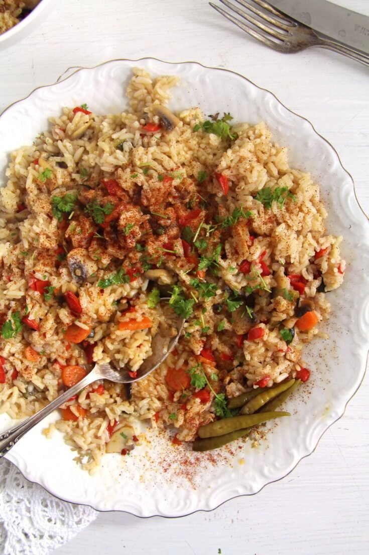 , Romanian Rice – Vegetable Pilaf