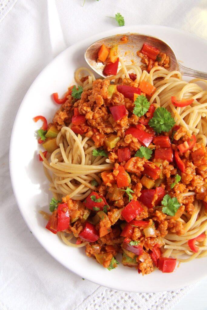 soy granules 683x1024 Vegan Soy Granules Sauce for Pasta