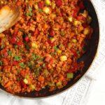 soy granules veggies 150x150 Vegan Soy Granules Sauce for Pasta