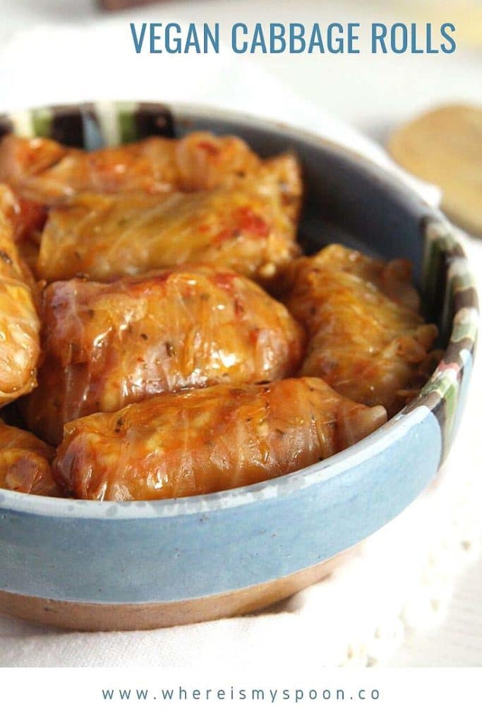 vegan cabbage rolls 683x1024 Vegan Cabbage Rolls with Sauerkraut