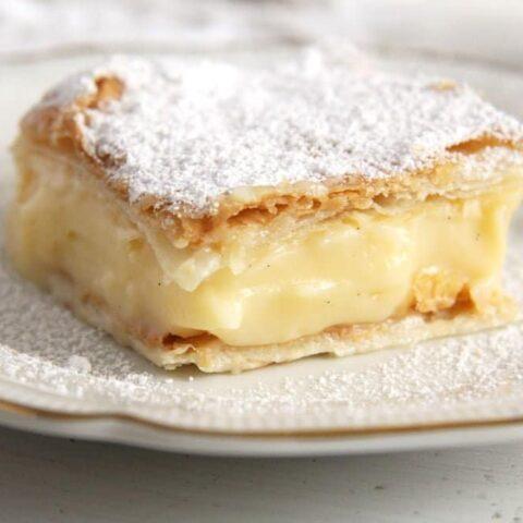 cremsnit 480x480 Cremeschnitte   Romanian Vanilla Cream Pie