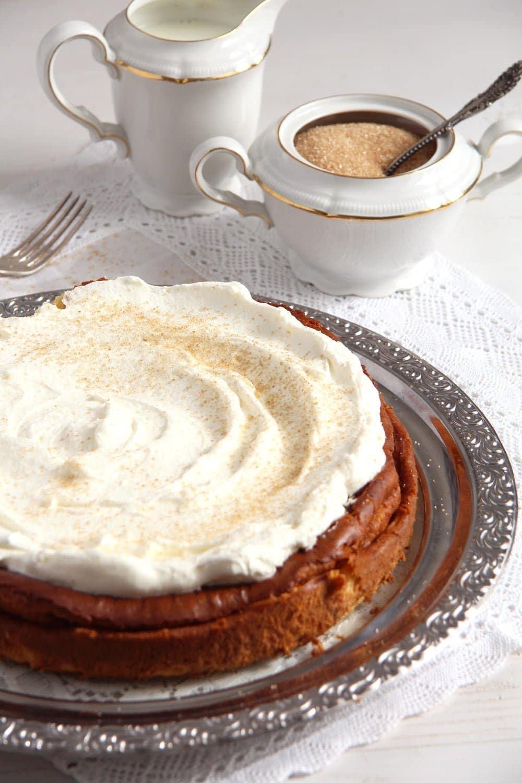 how to make crustless cheesecake