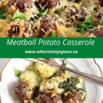 potato bake with ground beef and spinach