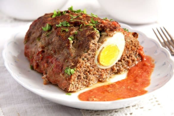 meatloaf egg 585x390 50 Spring Recipes