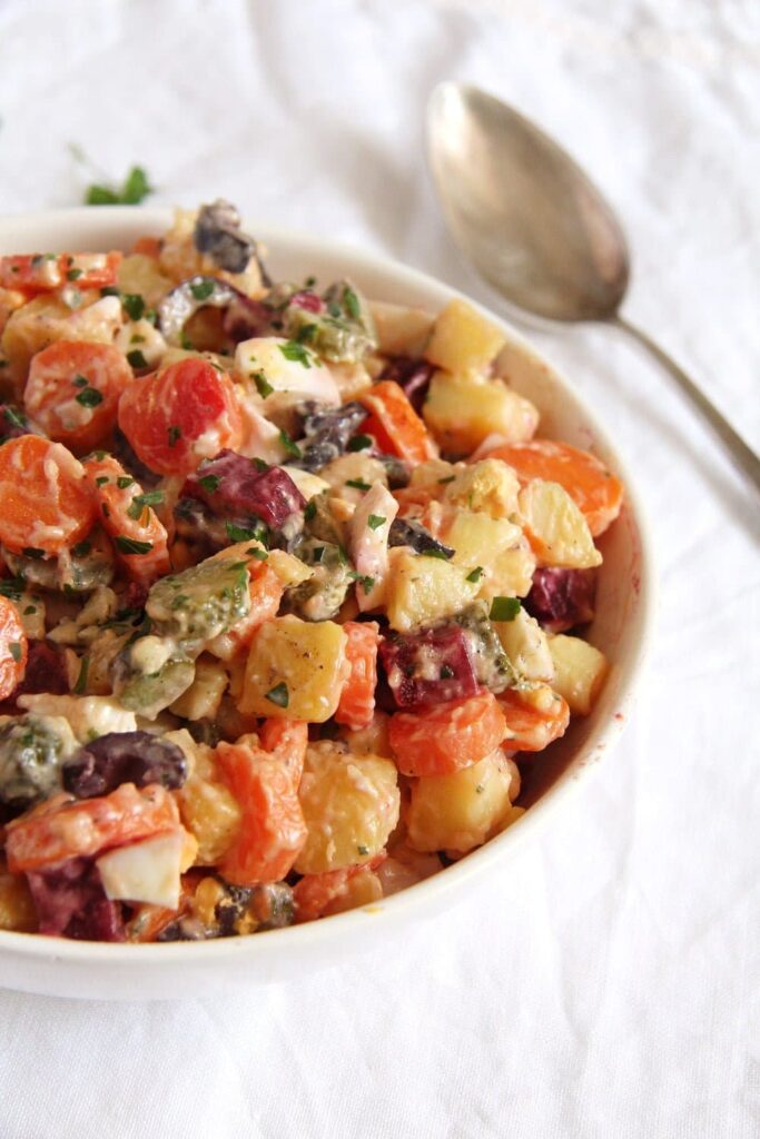 salad russe potatoes 683x1024 Salad Russe   Russian Salad Recipe