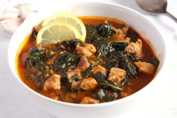 spinach stew garlic 585x390 50 Spring Recipes