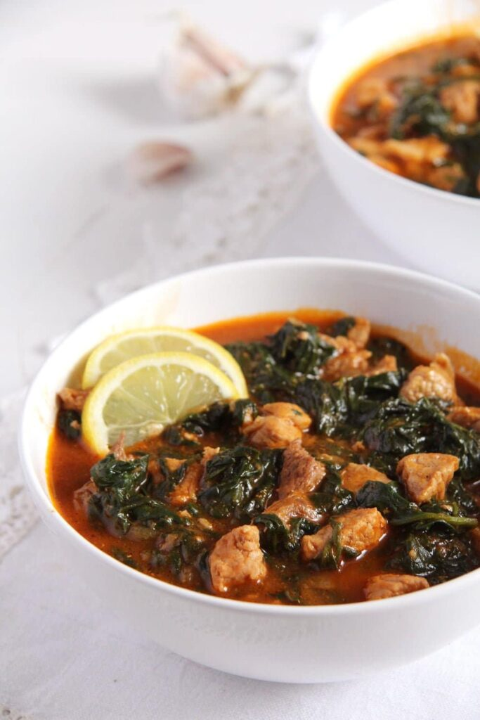 Spinach and Pork Stew