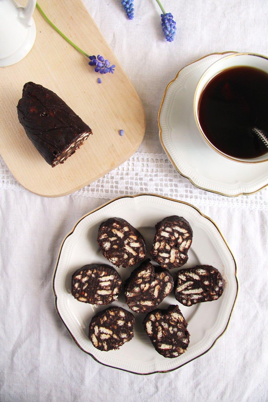 biscuit salami No Bake Romanian Biscuit Salami   Salam de biscuiti