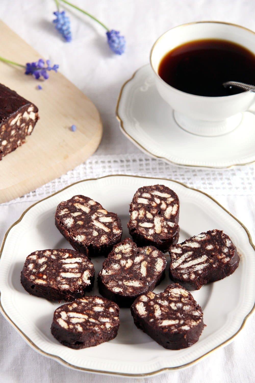 biscuit salamin cocoa No Bake Romanian Biscuit Salami   Salam de biscuiti