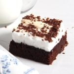 romanian brownies 150x150 Moist Brownies with Meringue Topping   Romanian Negrese Recipe