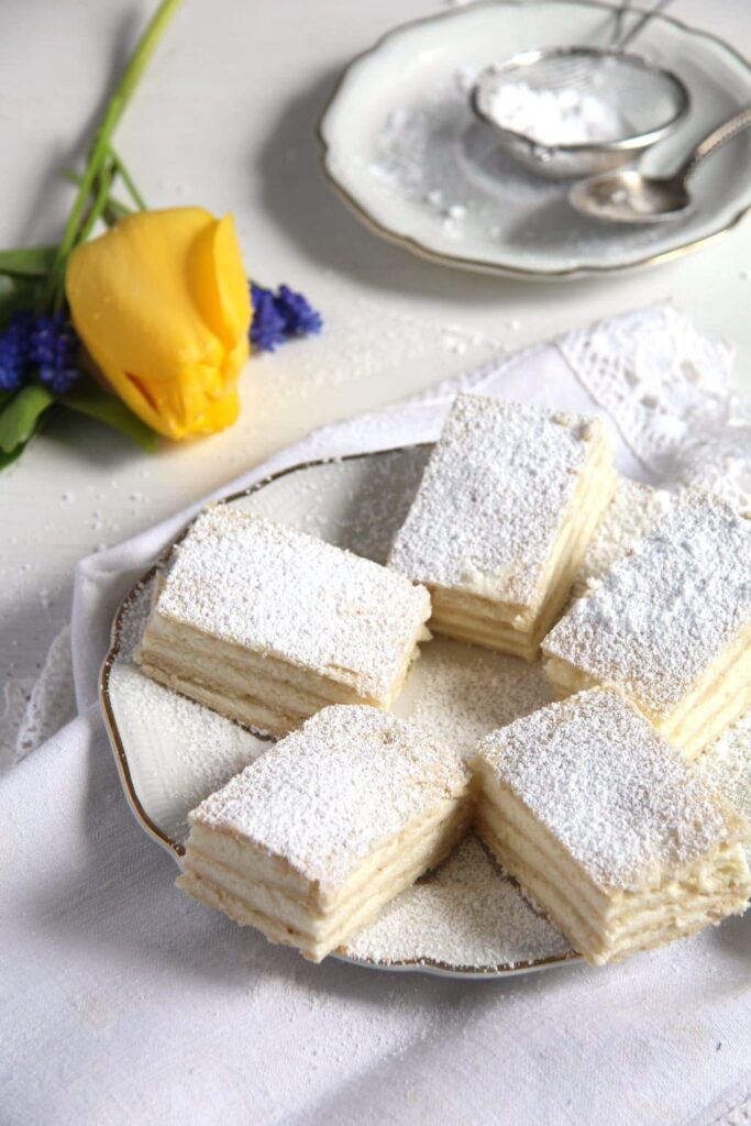 romanian lemon cake 1 683x1024 Layered Lemon Cake Recipe with Lemon Buttercream