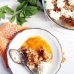 apricot trifle recipe with whipped cream on top