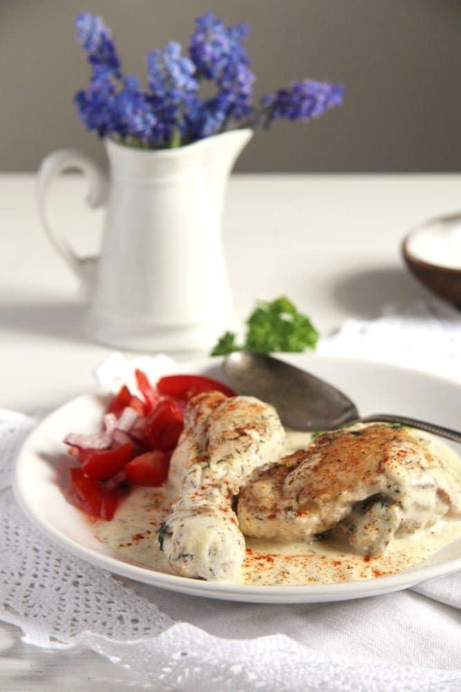 chicken cream romanian Chicken in Cream Sauce