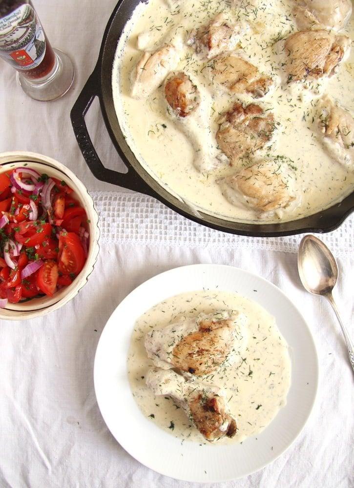 chicken with cream Chicken in Cream Sauce