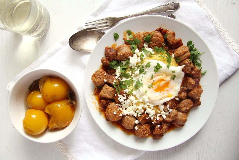 Moldavian Stew with Cheese and Eggs