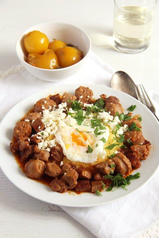 moldavian meat stew Moldavian Pork Stew with Cheese, Eggs and Polenta   Tochitura