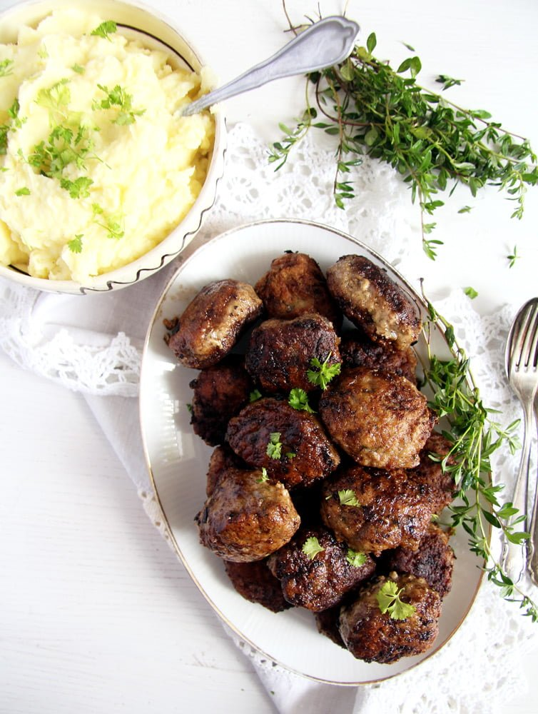 moldavian meatballs beef Beef and Pork Meatballs with Garlic and Herbs