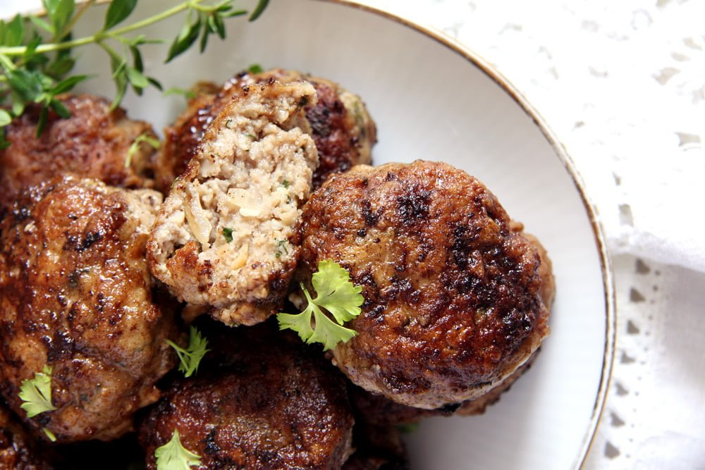 moldavian meatballs pork Beef and Pork Meatballs with Garlic and Herbs