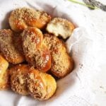 mucenici recipe or moldavian pastries glazed with honey in a basket