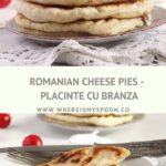 cheese pies with feta stapled on plates