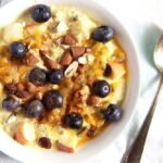 muesli breakfast with yoghurt and turmeric