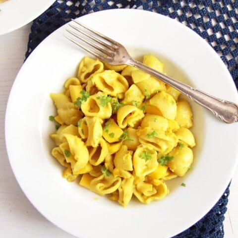 turmeric pasta sauce with coconut milk
